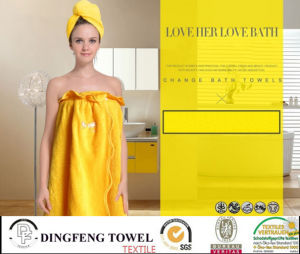 2016 New Fashion Nature Solid Color 100% Bamboo Bath Set Df-N130 1 Bath Cap+1 Bath Skirt Customize Color pictures & photos