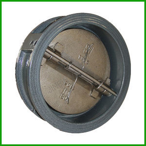 Stainless Steel Butterfly Check Valve-Wafer Double Door Check Valve pictures & photos