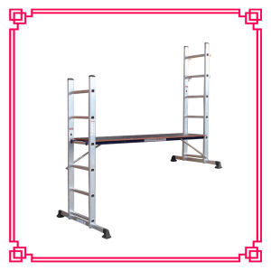 Aluminum Scaffolding Ladder with Work Platform pictures & photos