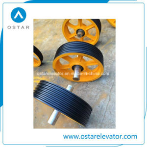 Elevator Parts, Nylon/Cast Iron Elevator Deflector Sheave, Traction Sheave (OS13) pictures & photos