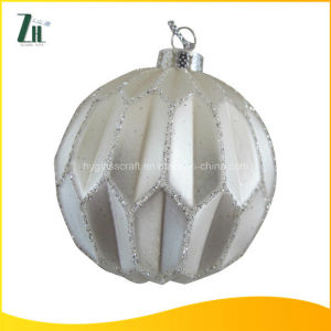 Hanging Christmas Ornaments Glass Ball with Waves pictures & photos