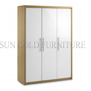 Bedroom Wardrobe in Beautiful White Gloss Lacquer (SZ-WD061) pictures & photos