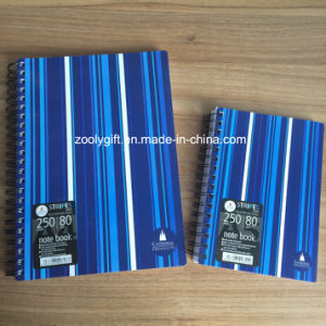 Stripes Printing PP Spiral Notebook Personal A6 Spiral Poly Cover Notebook pictures & photos