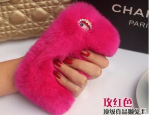 Rex Rabbit Fur Mobile Phone Shell, Warm, Lovely