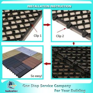Waterproof WPC DIY Floor Tiles WPC Interlocking Plastic Base Deck pictures & photos