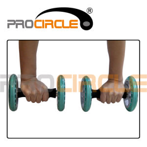 Dual Exercise High Strength Double Round Ab Wheel (PC-PW1004) pictures & photos