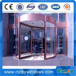 4 Wing Automatic Revolving Sliding Glass Door with Exhibition Box pictures & photos