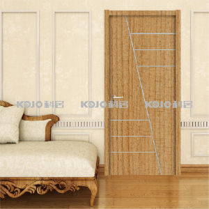 Moistureproof WPC Raw Material/PVC Wrapping Door for Coastal Areas (KM-14) pictures & photos