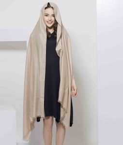 2017 Newest Plain Dyed 100% Cashmere Women Scarf From Shanghai pictures & photos