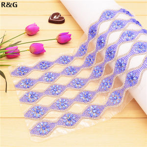 24*40cm Hot Fix Rhinestone Mesh Trimming for Decoration Rgd-049 pictures & photos