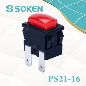 Soken Garment Steamer Push Button Switch 250VAC 16A 1 Pole pictures & photos