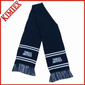 Customized Fashion Acrylic Single Layer Winter Knitted Scarf with Fringes pictures & photos
