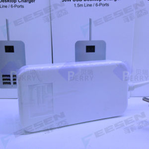 5V 30W 1.5m Line Desktop 6 Port USB Wall Charger Power Adapter EU/Us/UK Plug