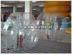 Custom Made Red Shoulder Straps Inflatable Bumper Ball Bubble Suit