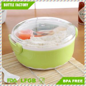 Food Container 2 Layer Hamburger Shape Lunch Box Bento with Fork Spoon Lunch Box Food Container BPA-Free pictures & photos