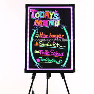 LED Temper Glass Writing Board/ LED Writing Menu Board pictures & photos