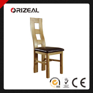 Solid Oak and Leather Wave Back Dining Chair (OZ-SW-011) pictures & photos