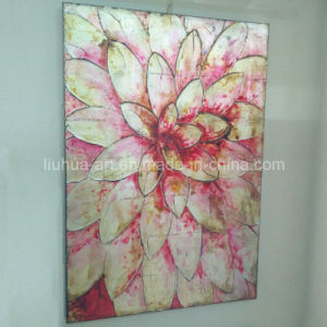 Newest Handmade Big Flower Paintings for Decor (LH-255000) pictures & photos