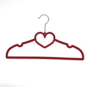 Multifunction Velvet Flocking Shirt Hanger for Scarf Hanging, Velvet Hanger pictures & photos