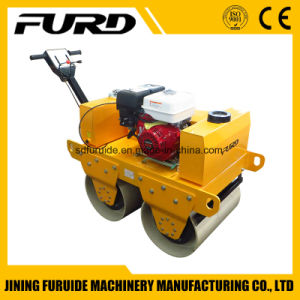 Honda Engine Double Drum Pedestrian Vibratory Roller pictures & photos