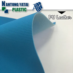 High Tearing Strength PU Synthetic Leather for Shoes Upper and Vamp pictures & photos