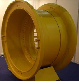 57 Inch OTR Mining Rim Wheel for Dump Truck Cat789 Cat793 Komatsu730e 830e