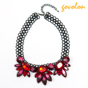 Fashion Jewellery Necklace with Red Crystal Stone pictures & photos