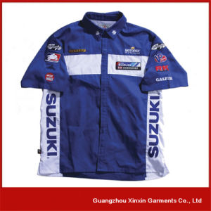 Customized Custom Sublimation Men′s Motocross Pit Crew Race Shirts (S07) pictures & photos