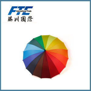Hot Sale Outdoor Custom Printing Business Rainbow Big Umbrella pictures & photos