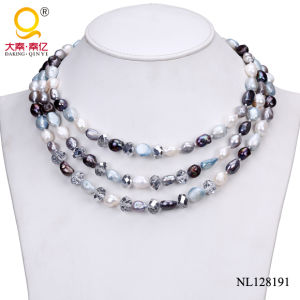 Fashion Pearl and Crystal Necklace Costume Jewelry pictures & photos