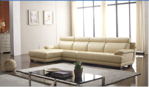 L Shape Corner Leather Sofa with Back Support (Y991) pictures & photos