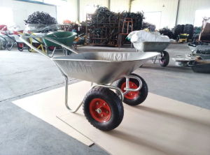 Zinc Wheelbarrow with Two Wheels of New Wb6211