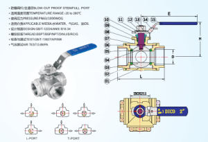 1000wog T Port 3 Way Ball Valve with Locking Handle pictures & photos