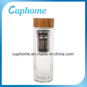 China Supper Double Wall Borosilicate Glass Watter Bottle for 400ml