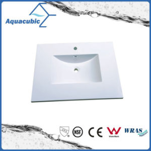 Polymarble White Bathroom Sink and Vanity Top Acb0813 pictures & photos