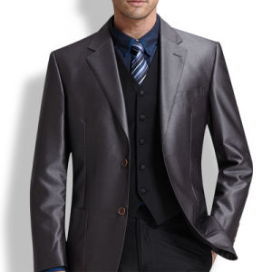 Tailor Made Silver Color New Design Tuxedo Men Suit pictures & photos