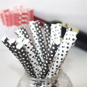 Black & White DOT Fat Paper Drinking Straw pictures & photos