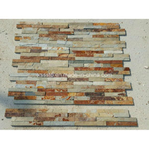 Natural Culture Stone Rusty Slate Tiles for Wall pictures & photos