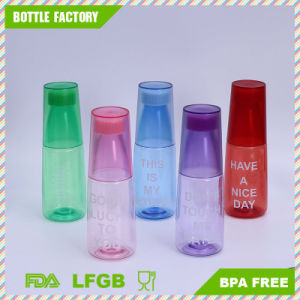 Hot Sale Creative Plastic Water Bottle with Cup pictures & photos