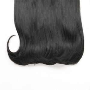 Clip in on Synthetic DIP Dye Wig Ombre Hairpieces Two Tone Straight Hair Extension pictures & photos