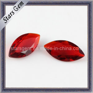China Red Marquise Shape Glass for Jewelry pictures & photos