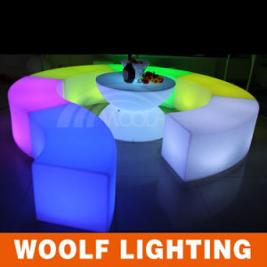 Light up LED Bar Club Curve Leisure Bench pictures & photos