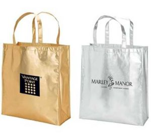 Advertising Eco Non Woven Shining Film Tote Handbag pictures & photos