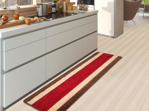 Red Anti Slip and Water Absorbent PP Kitchen Mat