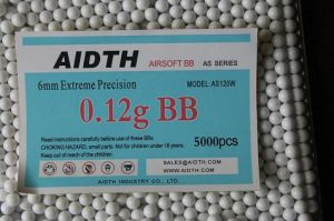 Airsoft BBS 6mm 0.12g White Color (AS120W)