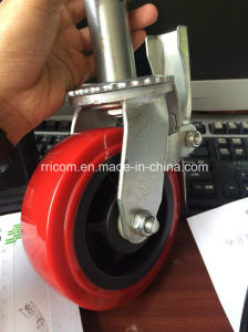 Adjustable Heavy Duty Scaffold Caster Wheel with Brake pictures & photos