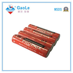 Super Heavy Duty AAA 1.5V R03P Battery with MSDS SGS pictures & photos