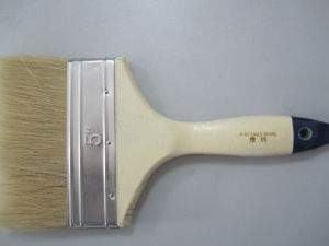 Paint Brush with White Wooden Handle (SG-037R) pictures & photos