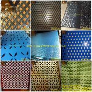 Aluminum Oblong Perforated Metal Mesh for False Ceilings pictures & photos
