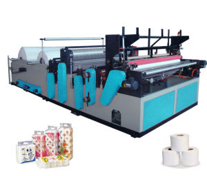 Full Automatic Small Toilet Paper Roll Making Machine pictures & photos